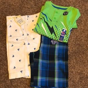 Other - NWT bundle of boys shorts and shirt. Size 7/8